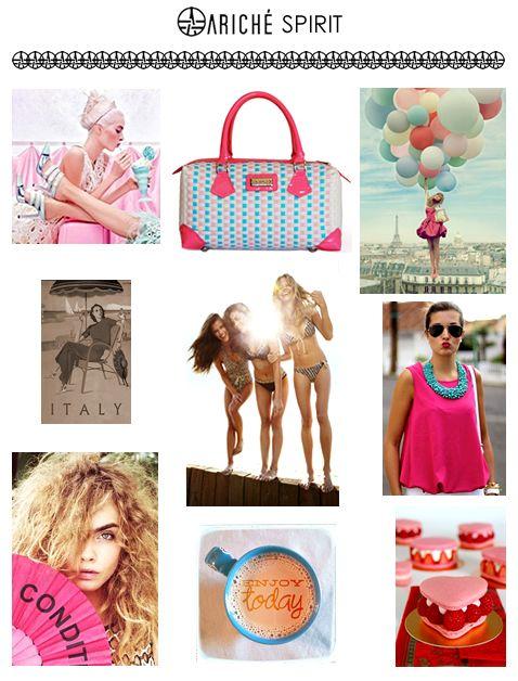 Nuestra esencia, lo que nos mueve y nos fascina! #arichéspirit #caradelevinge #pink #italy #marilynscloset #bbloggers #fashion #beach #luxurybrands #shoppingbarcelona #handbags
