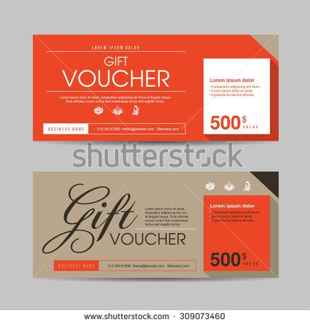 Vector illustration,Gift voucher template with colorful pattern - coupons design templates