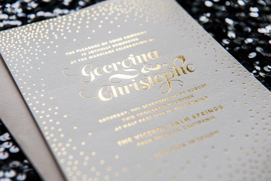 Foiled Invitations Stella Wedding Invitation