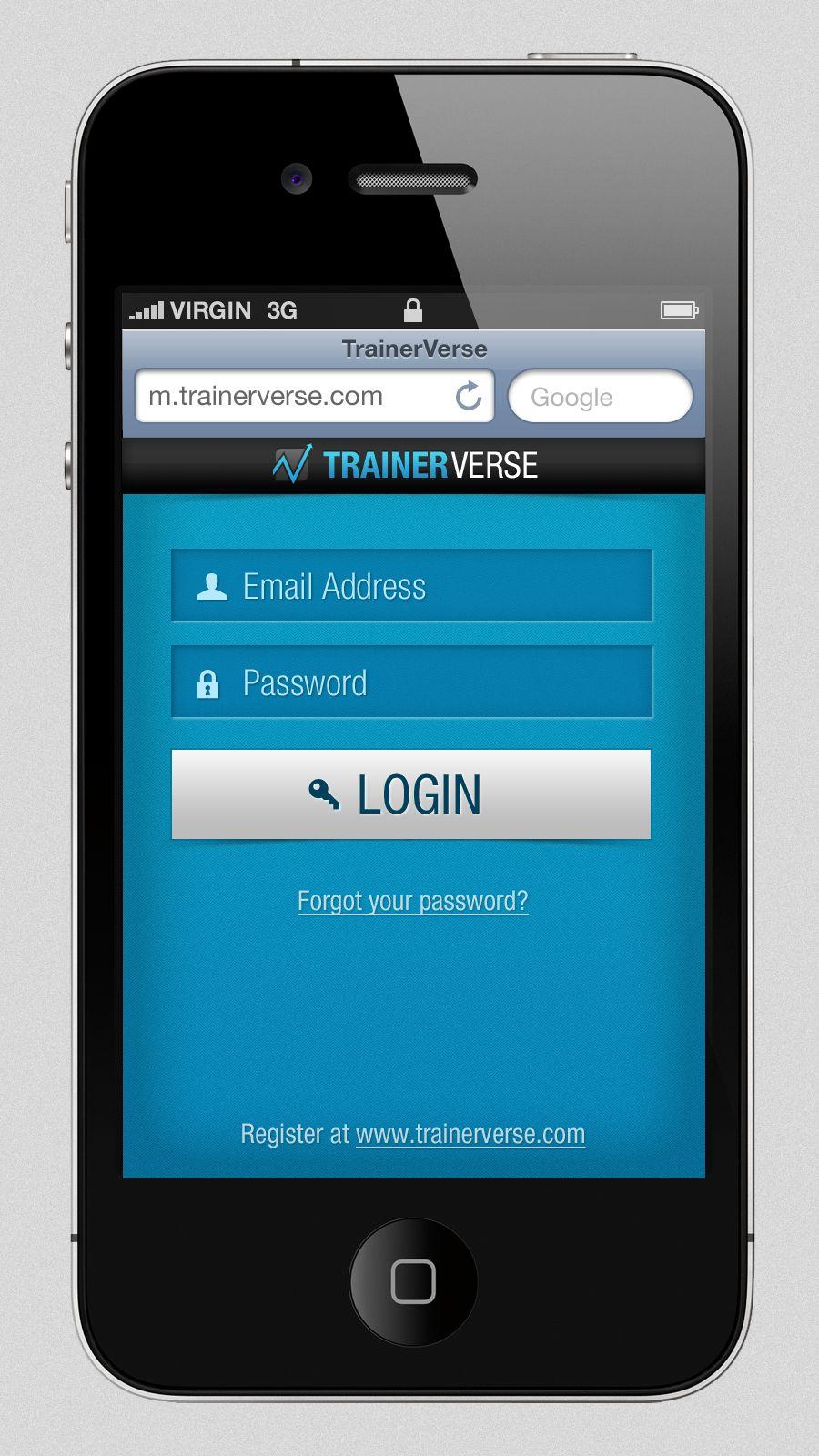 Mobile Login Screen Mobile login, Mobile design