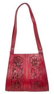 Mexil Tooled Leather Purse (True Blood Red) || Trashy Diva, New Orleans