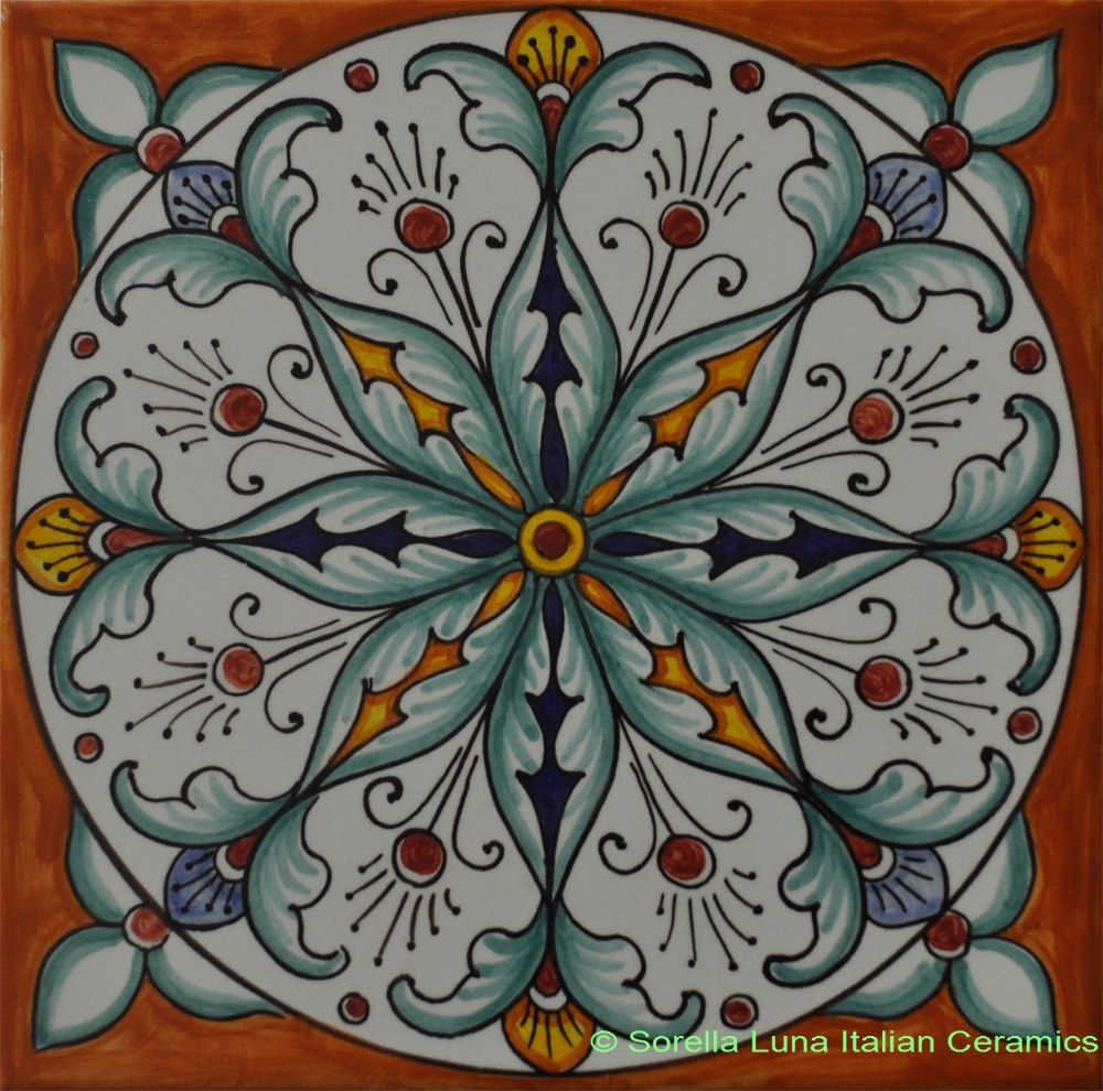 Hand painted italian ceramic tiles tiles pinterest pottery hand painted italian ceramic tiles dailygadgetfo Images