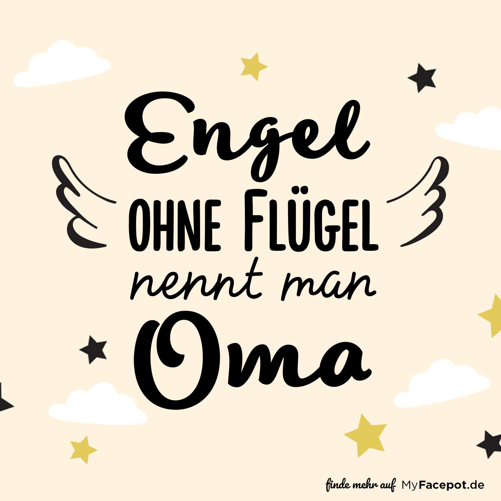 Engel ohne Flügel nennt man Oma  Geschenkideen für Oma sind mit diesem Spruch im Handumdrehen fertig! Einfach zwei schöne Fotos von Mama, Enkel und der Familie in die Bilderrahmen einsetzen und schon ist das Geschenk zu Weihnachten, Geburtstag oder Ostern gemacht! #fotogeschenk
