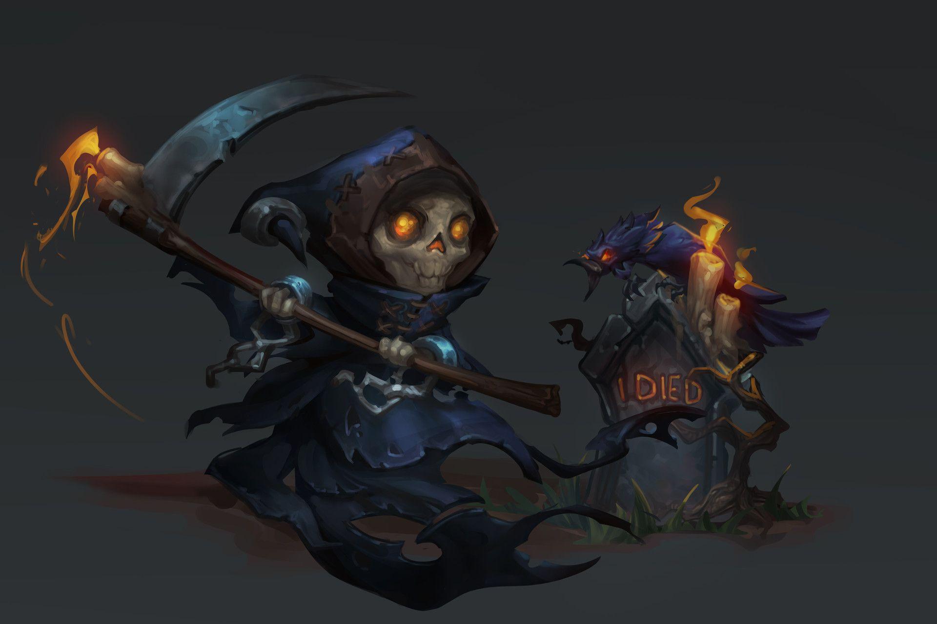 ArtStation - Grim Reaper Card, Angelina Chernyak   World of Warcraft