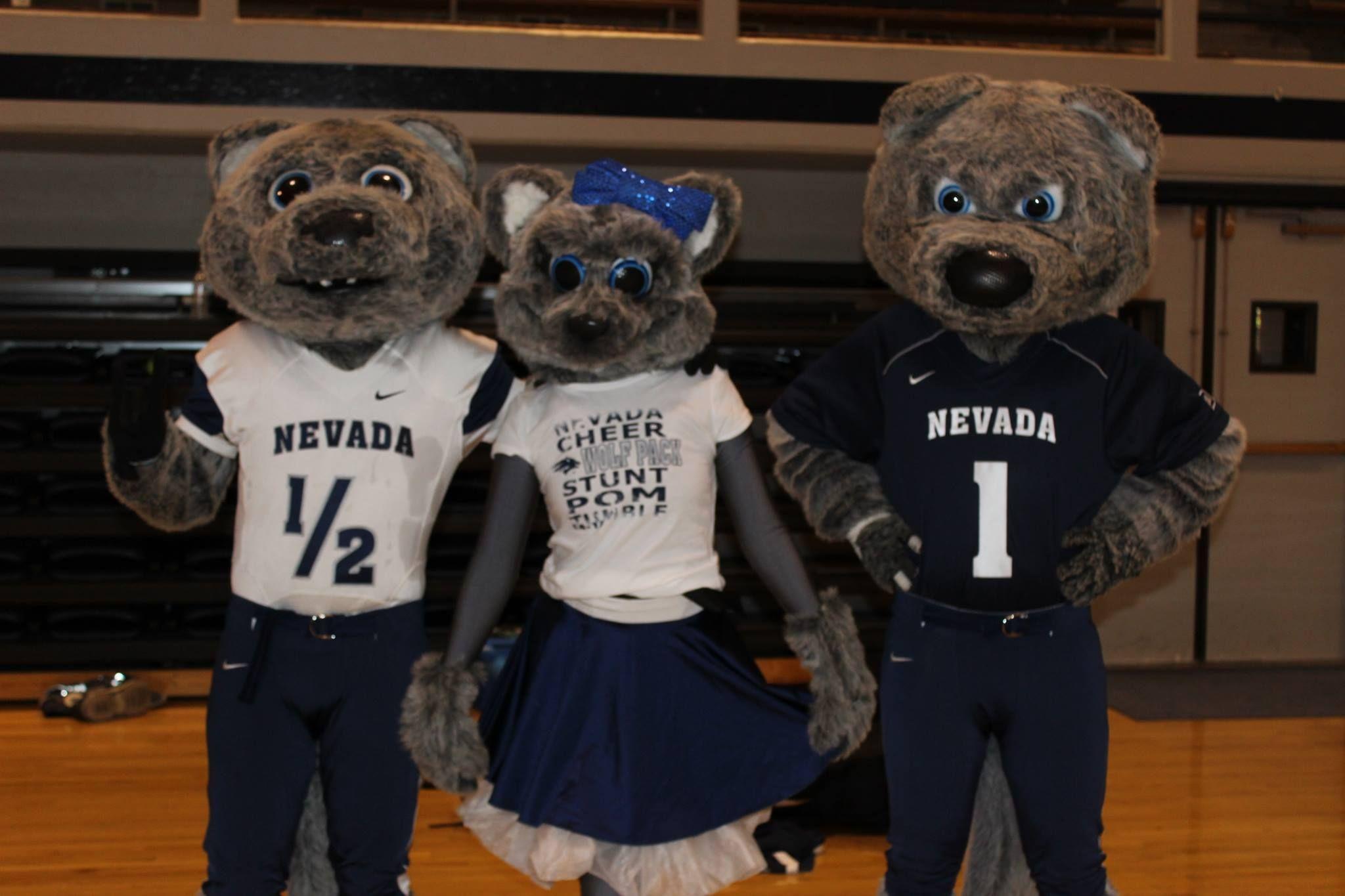 mascots Wolfie Luna (debuted Wolfpack Nevada Jr. 2007),