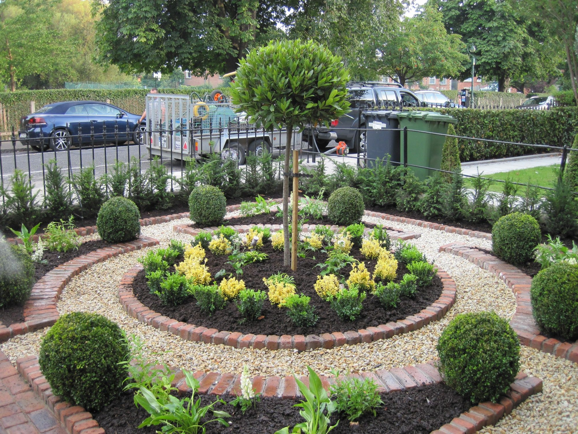 image result for small formal front gardens