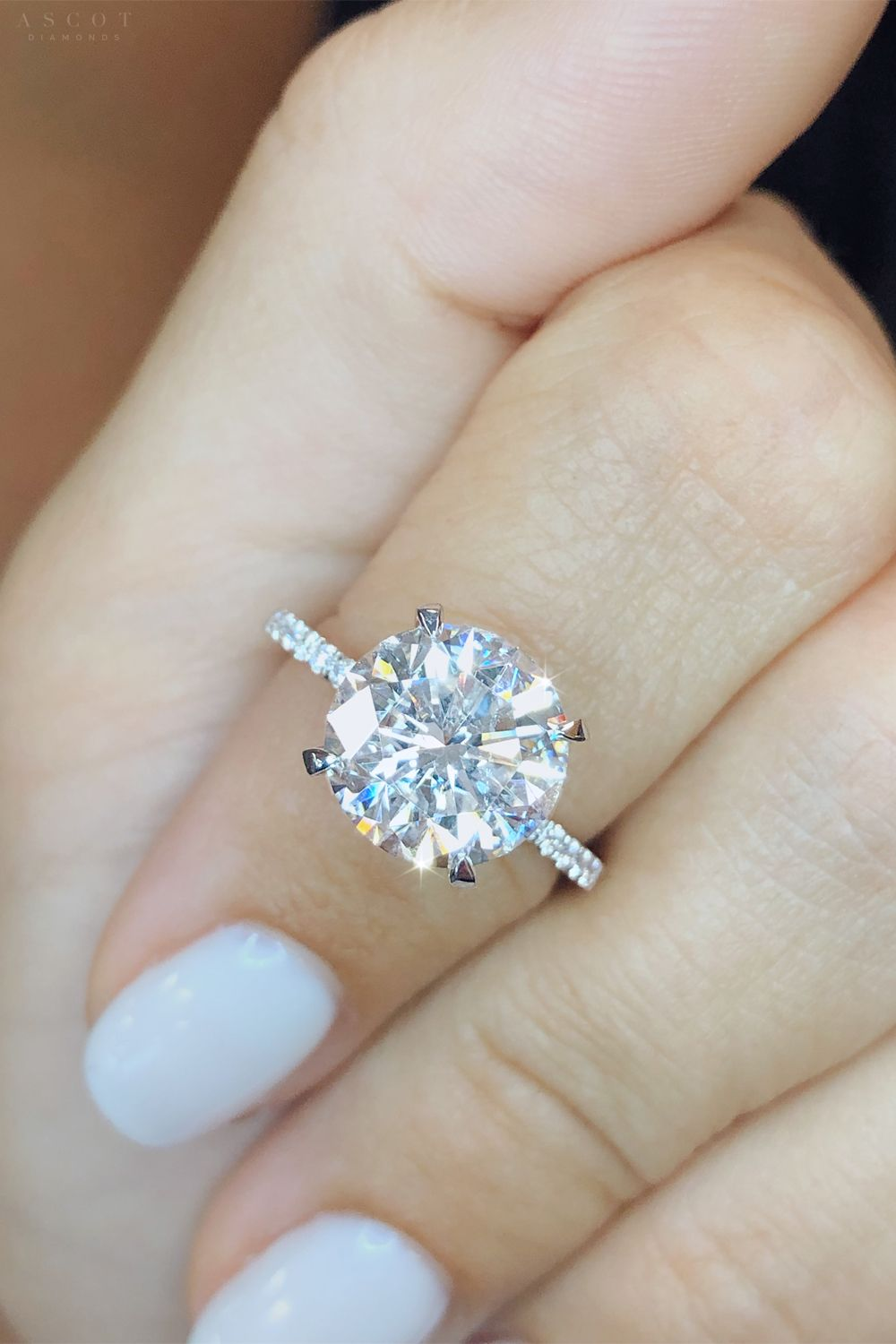 Diamond brilliance at its best with this Round cut diamond engagement ring by Ascot Diamonds