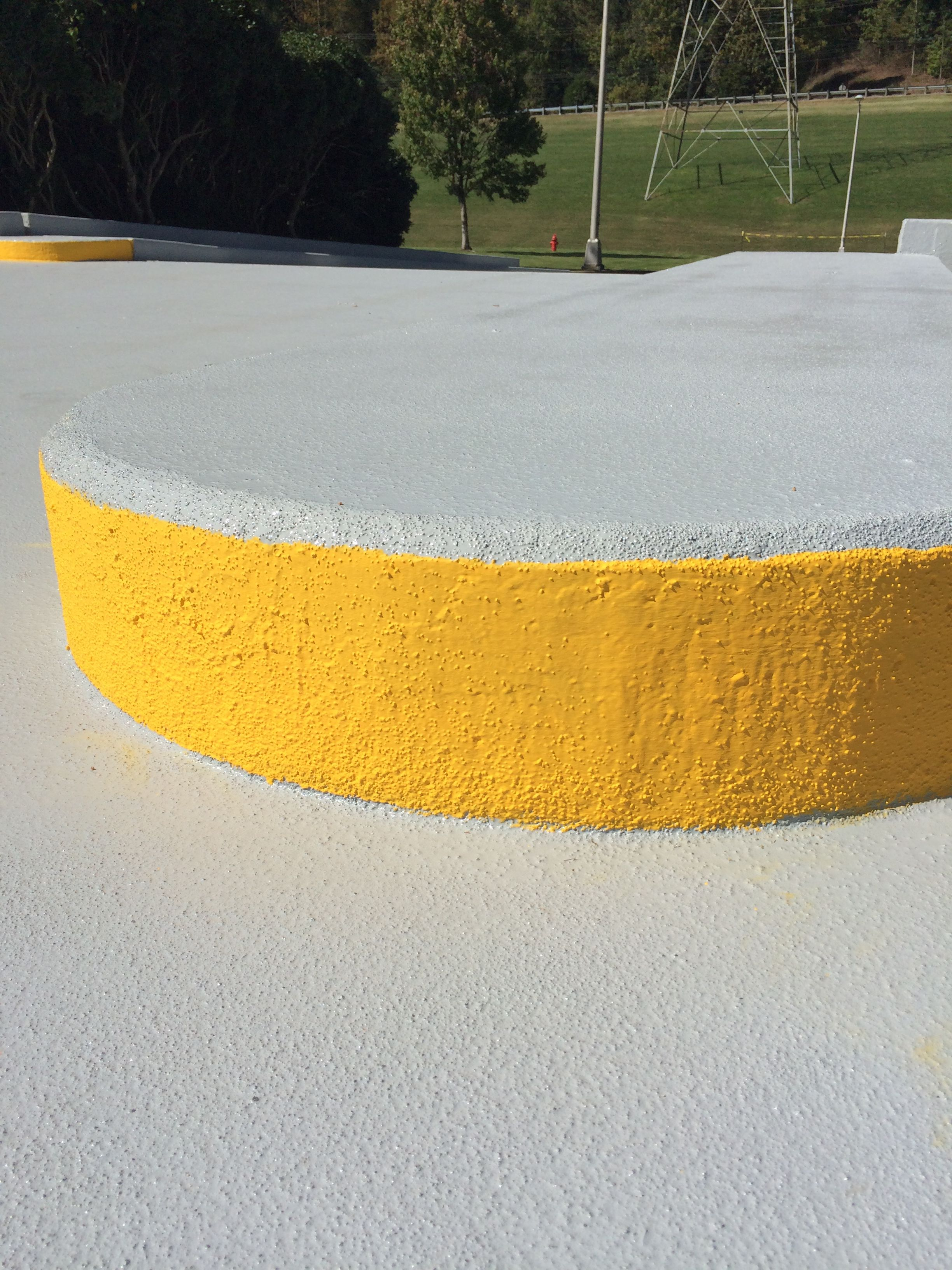 865-680-9225 Epoxy Coatings for Concrete Surfaces by AAA Stripe Pro is extremely durable and aids in deterioration prevention aaastripepro@gmail.com can be pressure washed year after year!