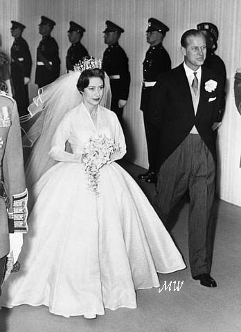 princess margaret with the duke of edinburgh on her