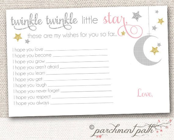 Twinkle Twinkle Little Star Baby Shower Printable Party Favor