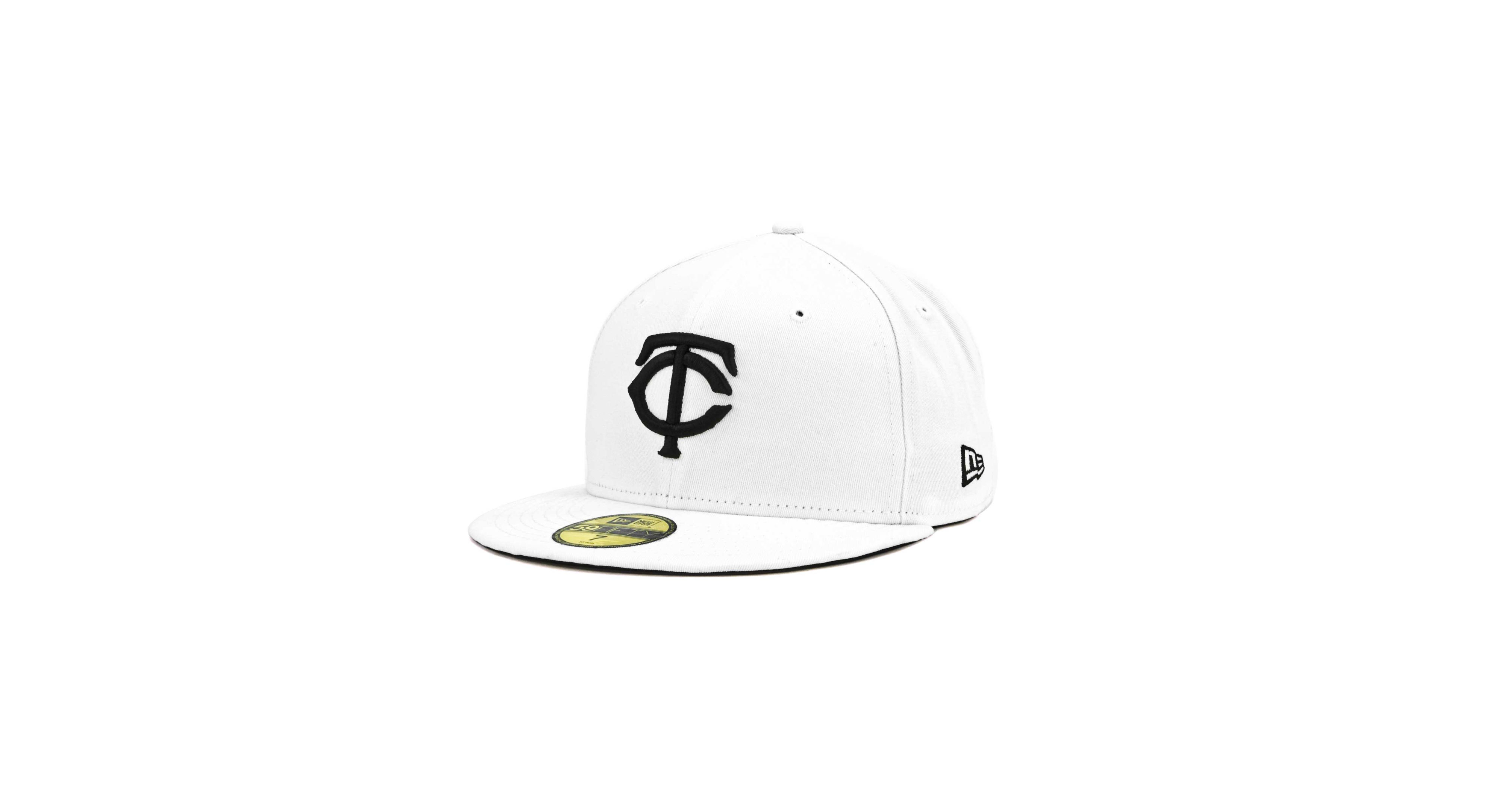 the latest d95ca 23262 New Era Minnesota Twins Mlb White And Black 59FIFTY Cap