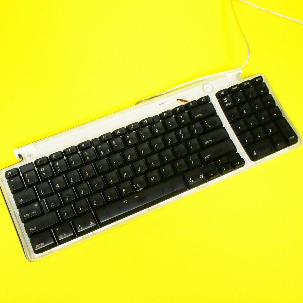 Retro Apple Keyboard Usb See Through Power Button Vintage Ebay In 2020 Apple Keyboard Keyboard Power Button