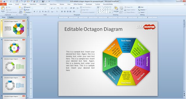 Free Editable Octagon Diagram For Powerpoint  Free Powerpoint