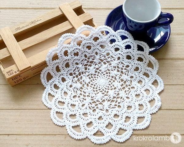 40 Pretty And Easy Crochet Doily For Beginners Crochet Pinterest