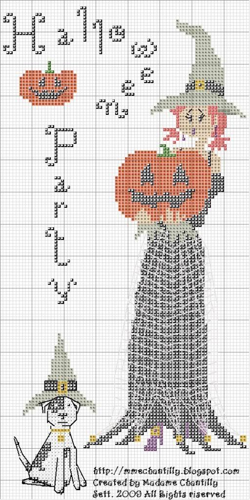 Halloween Party cross stitch | punto de cruz | Pinterest | Punto de ...