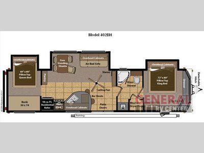 New 2016 Keystone Rv Residence 402 Bh Destination Trailer Keystone Rv Floor Plans Park Model Homes
