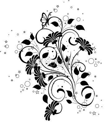 vecteur arabesques floral noir et papillons ornements arabesques pinterest arabesque. Black Bedroom Furniture Sets. Home Design Ideas