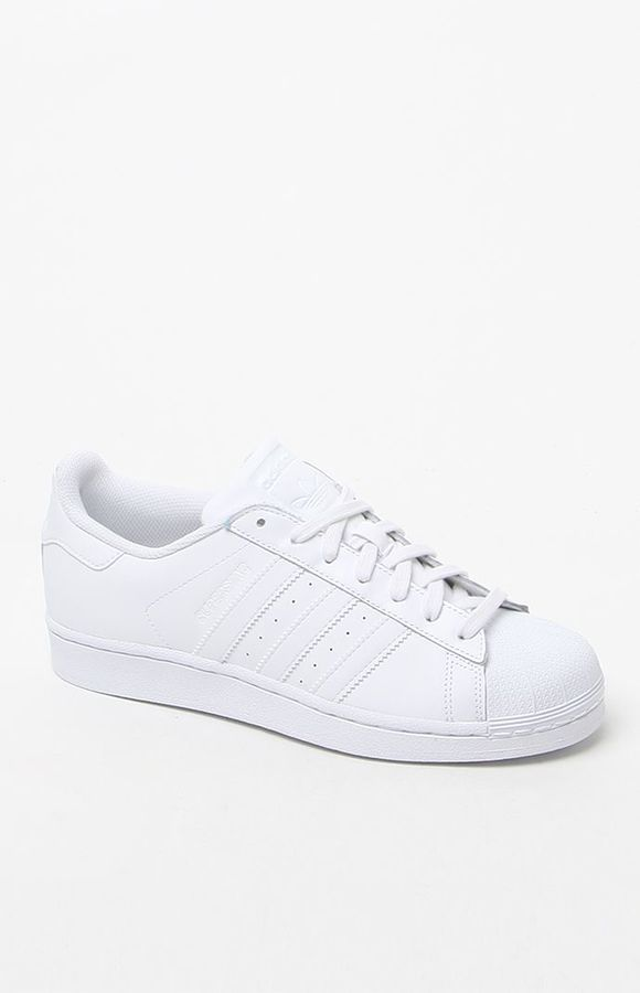 promo code 4627a 46b9b Hooked on Women s White Stripe Superstar Low-Top Sneakers that I found on  the PacSun App