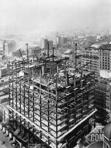 Construction Of The Woolworth Building New York Photographic Print At Art Com Completed In 1913 Woolworth Building Building New York City Buildings