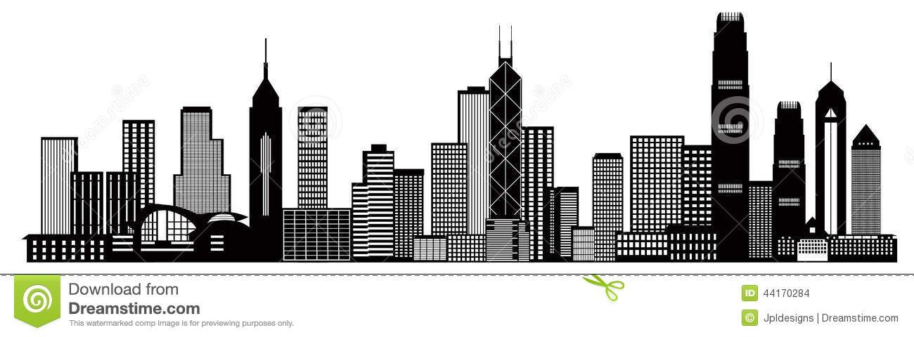 Hong Kong City Skyline Black And White Vector Illu Download From Over 55 Million High Quality Stock Photos Images Vectors Si City Skyline Skyline Panorama
