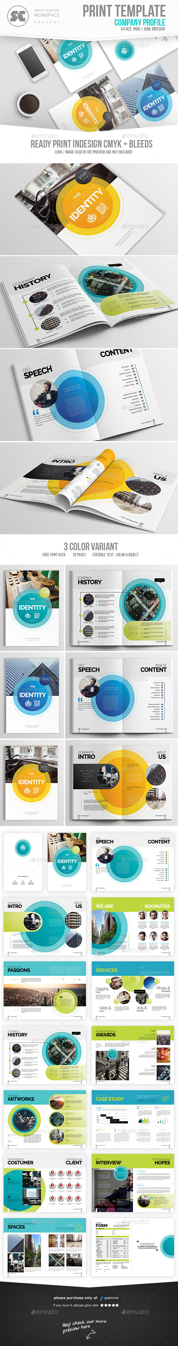 Modern Company Profile — InDesign Template #indesign #review ...