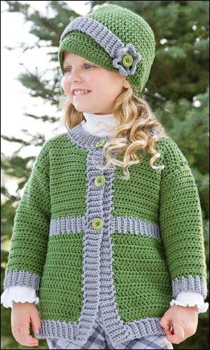 Small Wonders -- Sunday Best Coat & Hat | Crochet Kids | Pinterest