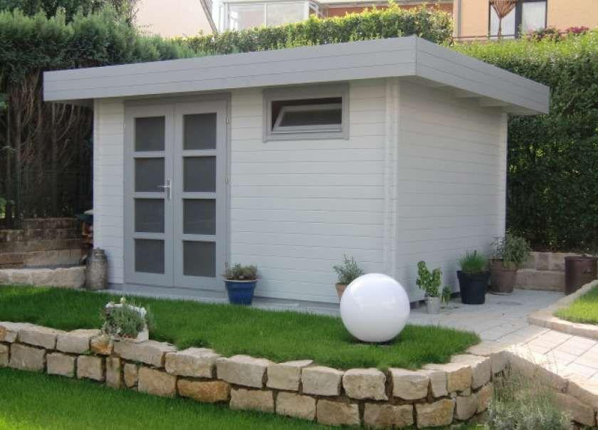 Flachdach Gartenhaus Modell ModernC Flachdach