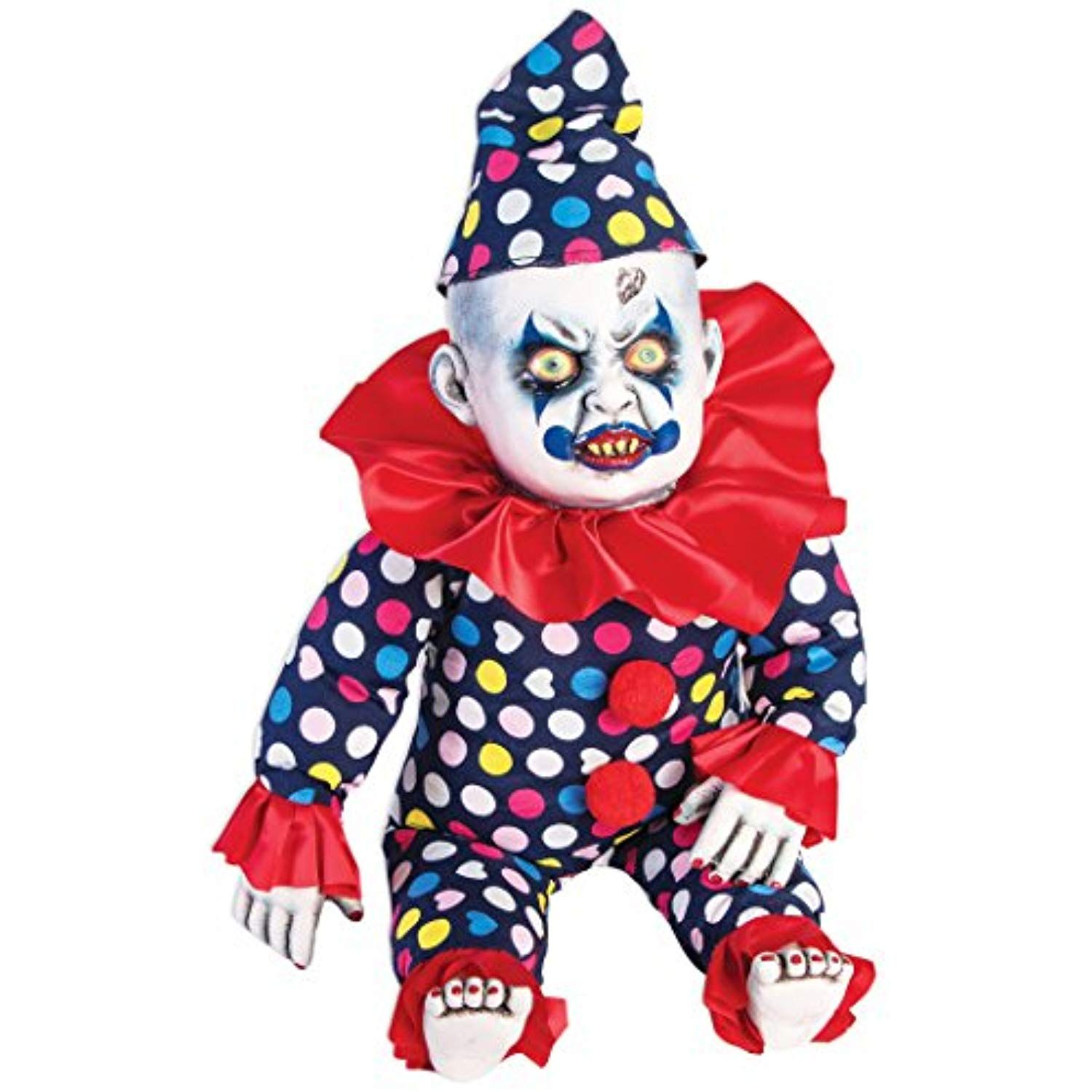 Forum Novelties PropEvil Clown Doll, Blue/Red Want to
