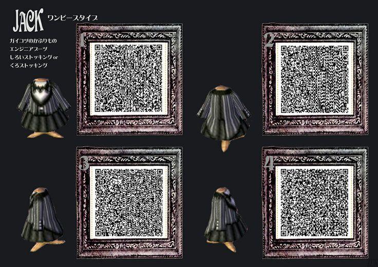 Animal Crossing New Leaf QR codes ありひめ purple dress   FollowPics