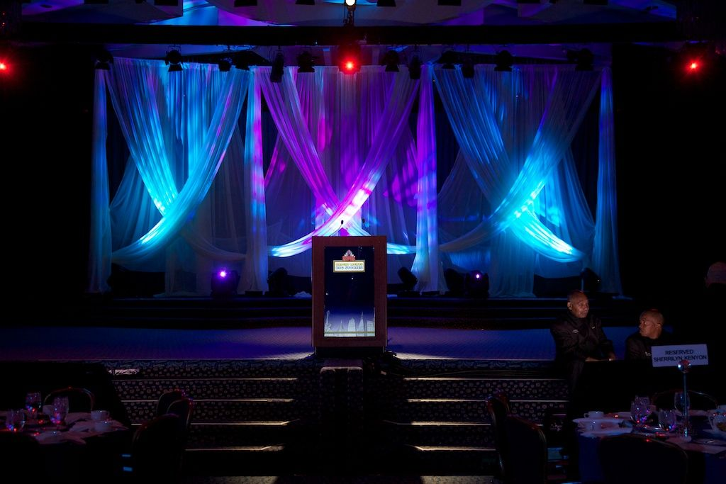Awesome Drape Backdrop For Your Gala Event Lighting Social Events Event