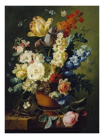 Flemish Flowers Art Painting Floral Art