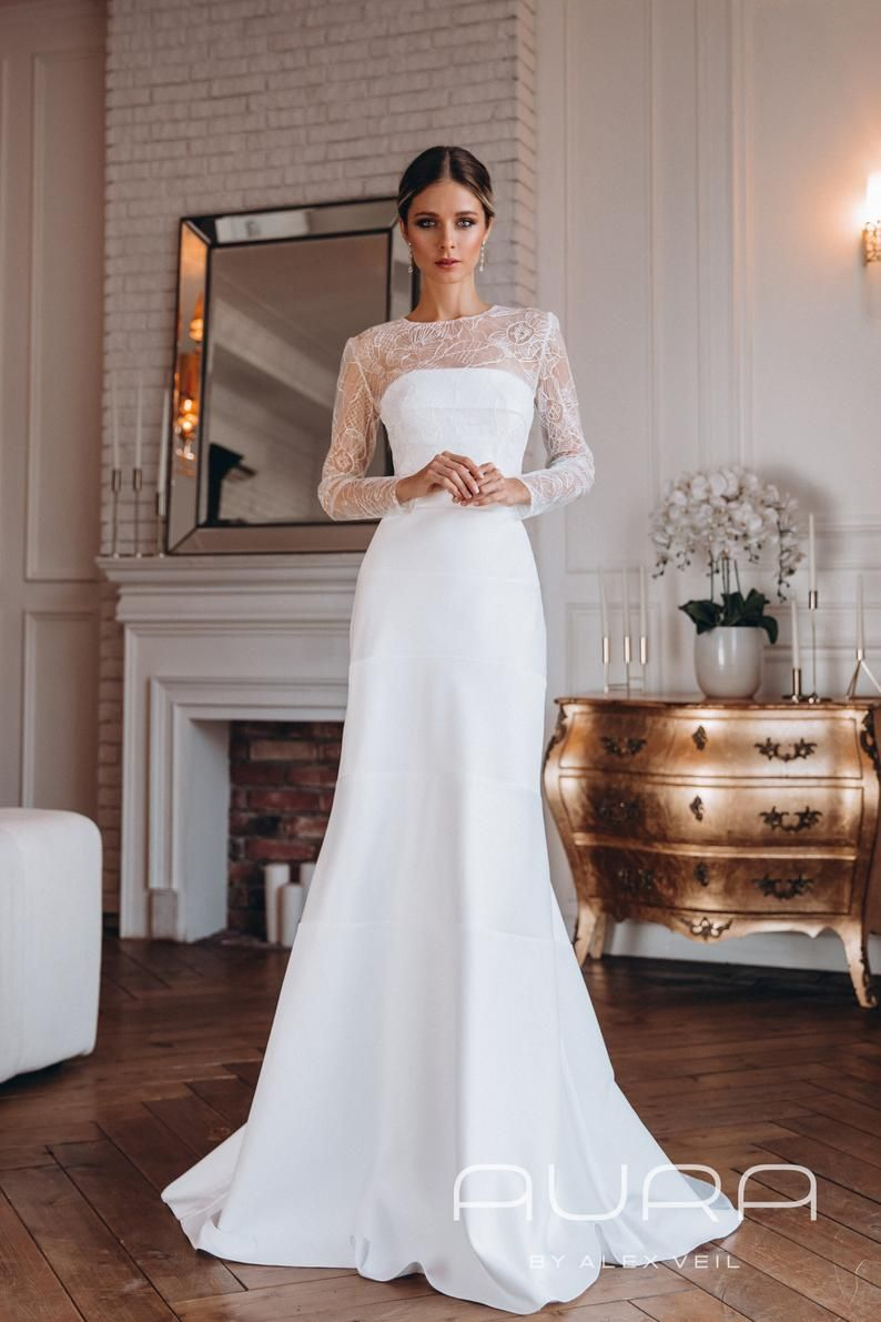 Wedding Dress Odri Mermaid Wedding Dress With Etsy Wedding Dresses Mermaid Wedding Dress Simple Elegant Wedding Dress [ 1191 x 794 Pixel ]