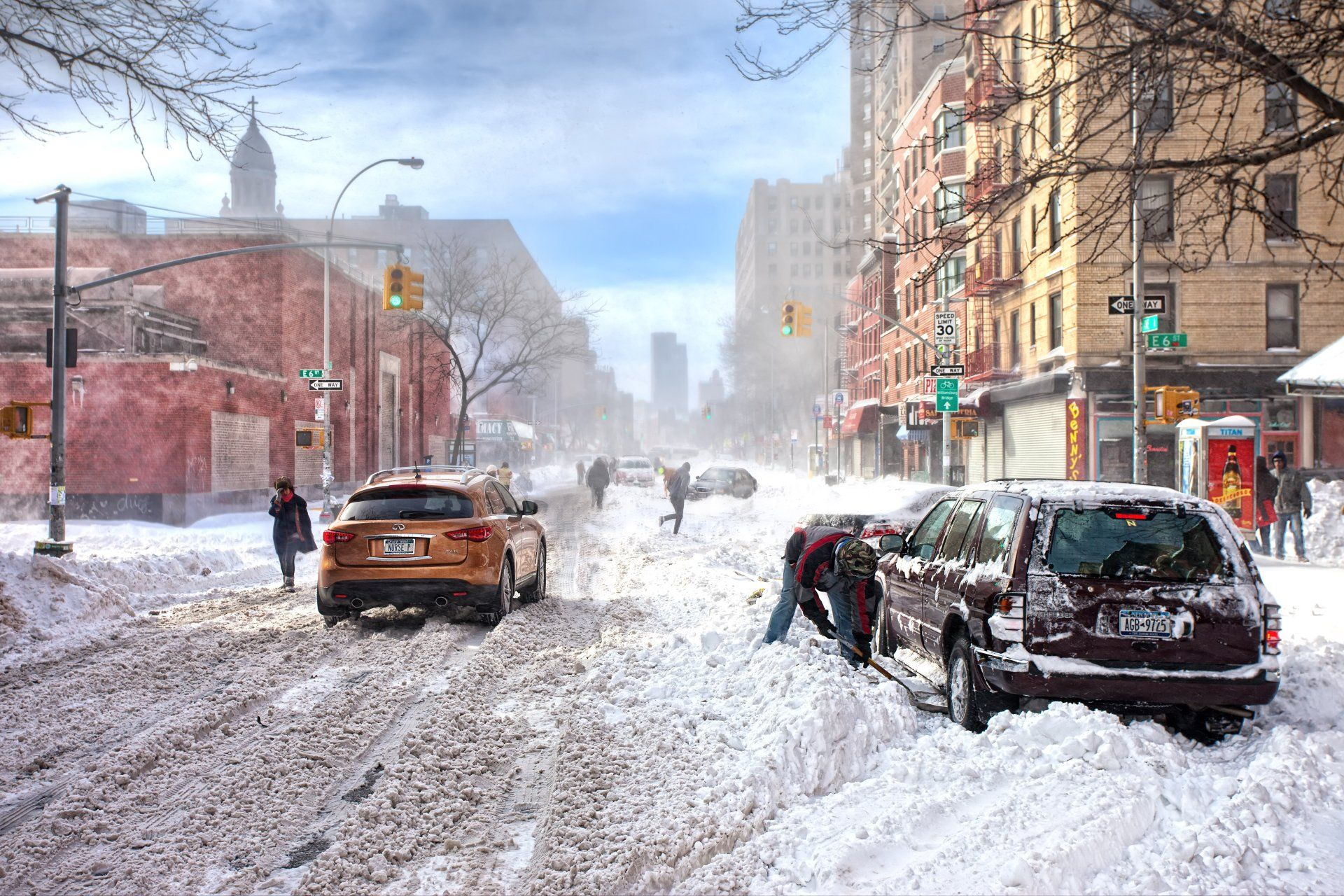Photography Winter Photography Snow Snowfall City Building Car People Wallpaper Winter City Winter Landscape City Wallpaper