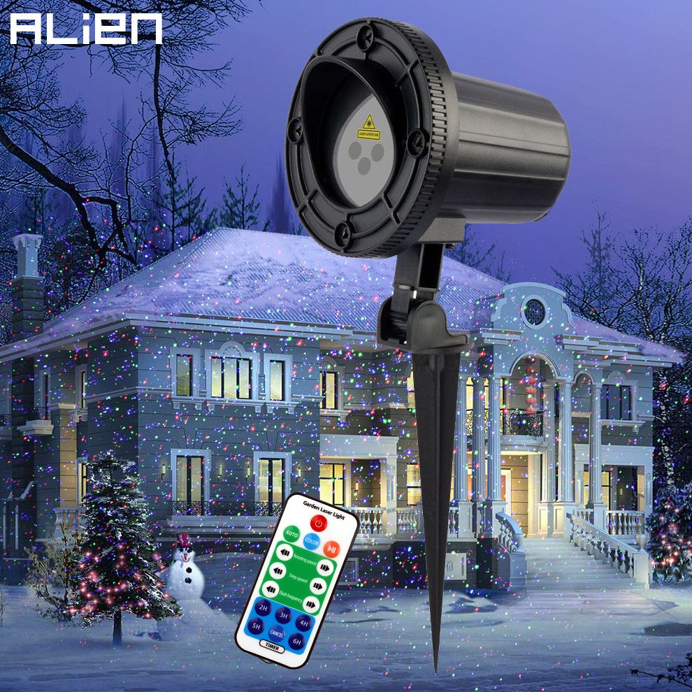 Alien rgb moving static dots star christmas laser light projector alien rgb moving static dots star christmas laser light projector outdoor garden holiday xmas tree decor mozeypictures Images