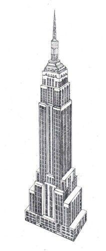 Empire State Building Empire State Building Drawing Empire State Building Building Drawing