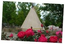 This KOA in Cortez, CO was fabulous.  We loved staying in the TeePee