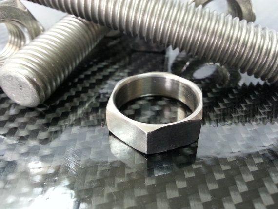 Titanium Hex Nut Ring by JLHardwear on Etsy