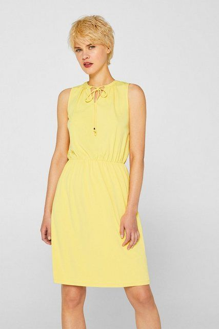 Photo of Esprit Collection Jersey stretch dress with polka dots or simple …
