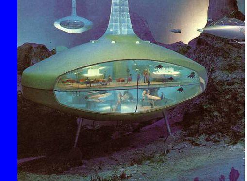Undersea hotel 1964 .Looks pretty Jetson's.