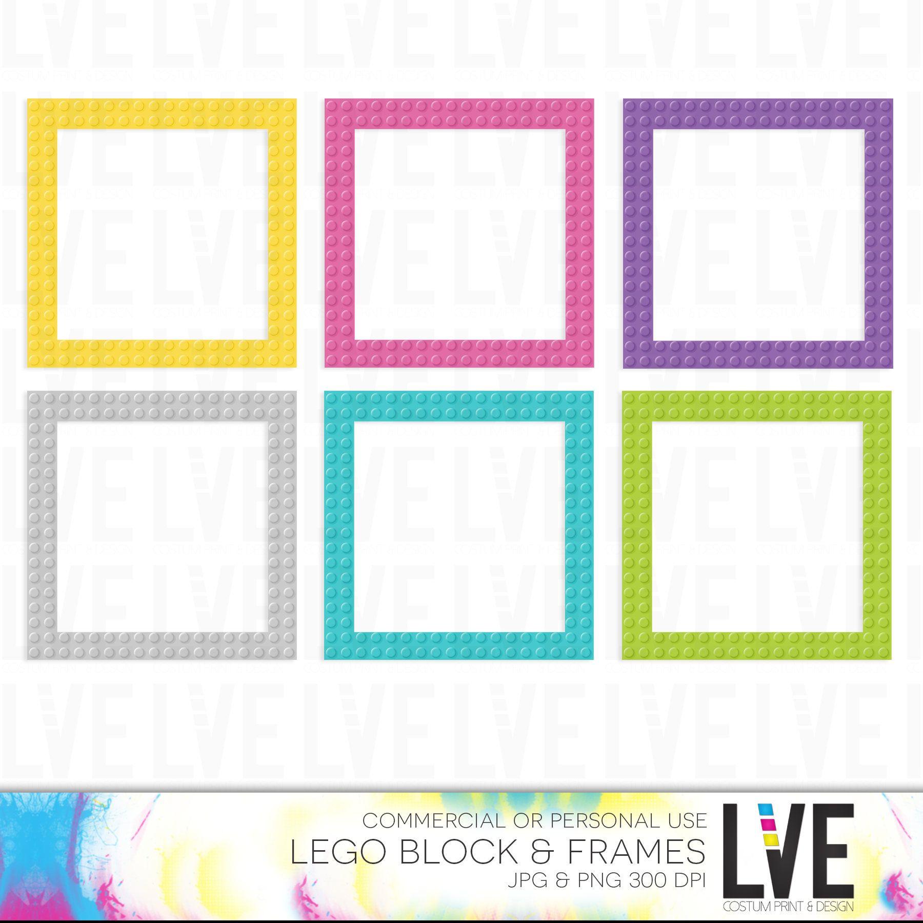 Girl Building Block Frame Clip Art Images, Graphics, Images, Digital ...
