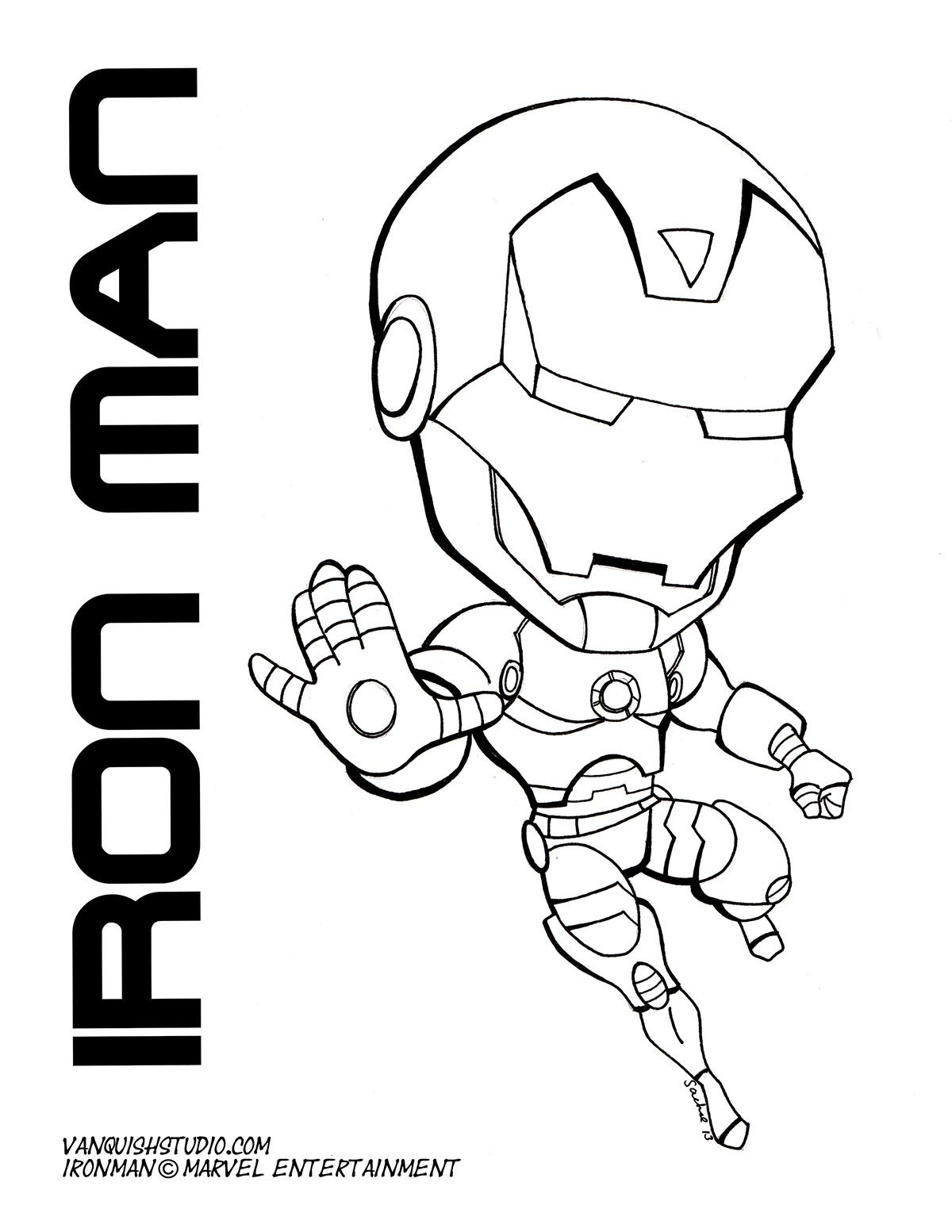 Baby Iron Man Coloring Pages Display