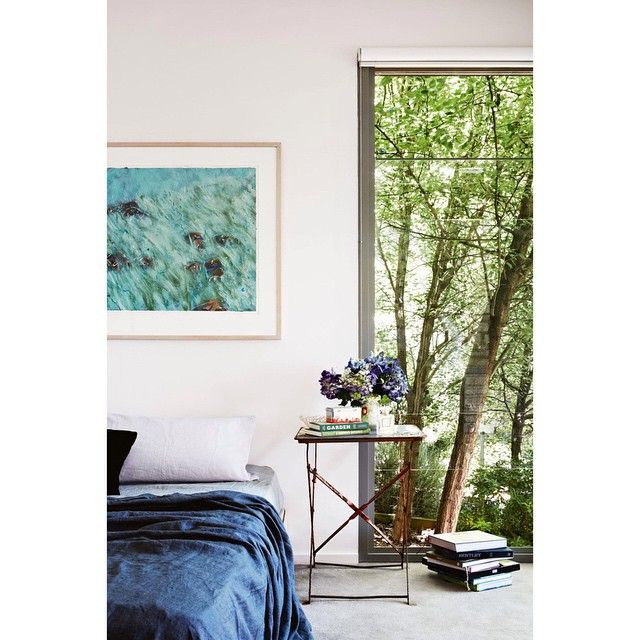 """""""If you need to conquer those mid-week blues, why not spend 'A Weekend With …' @wolfinkitchen and her Daylesford property, as seen in a previous issue, but now featured on our website: insideout.com.au. That lovely artwork is by her husband Allan.  Styling by Julia Green of @greenhouseinteriors. Photography by @armellehabib."""" Photo taken by @insideoutmag on Instagram, pinned via the InstaPin iOS App! http://www.instapinapp.com (03/18/2015)"""