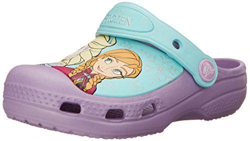 crocs Frozen Elsa and Anna Clog (Toddler/Little Kid),Iris,4