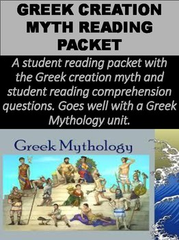 A Student Reading Packet With The Greek Creation Myth And Comprehension Q Question Essay Idea Example Argument