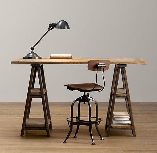Diy Desk Idea Bar Stool Bases