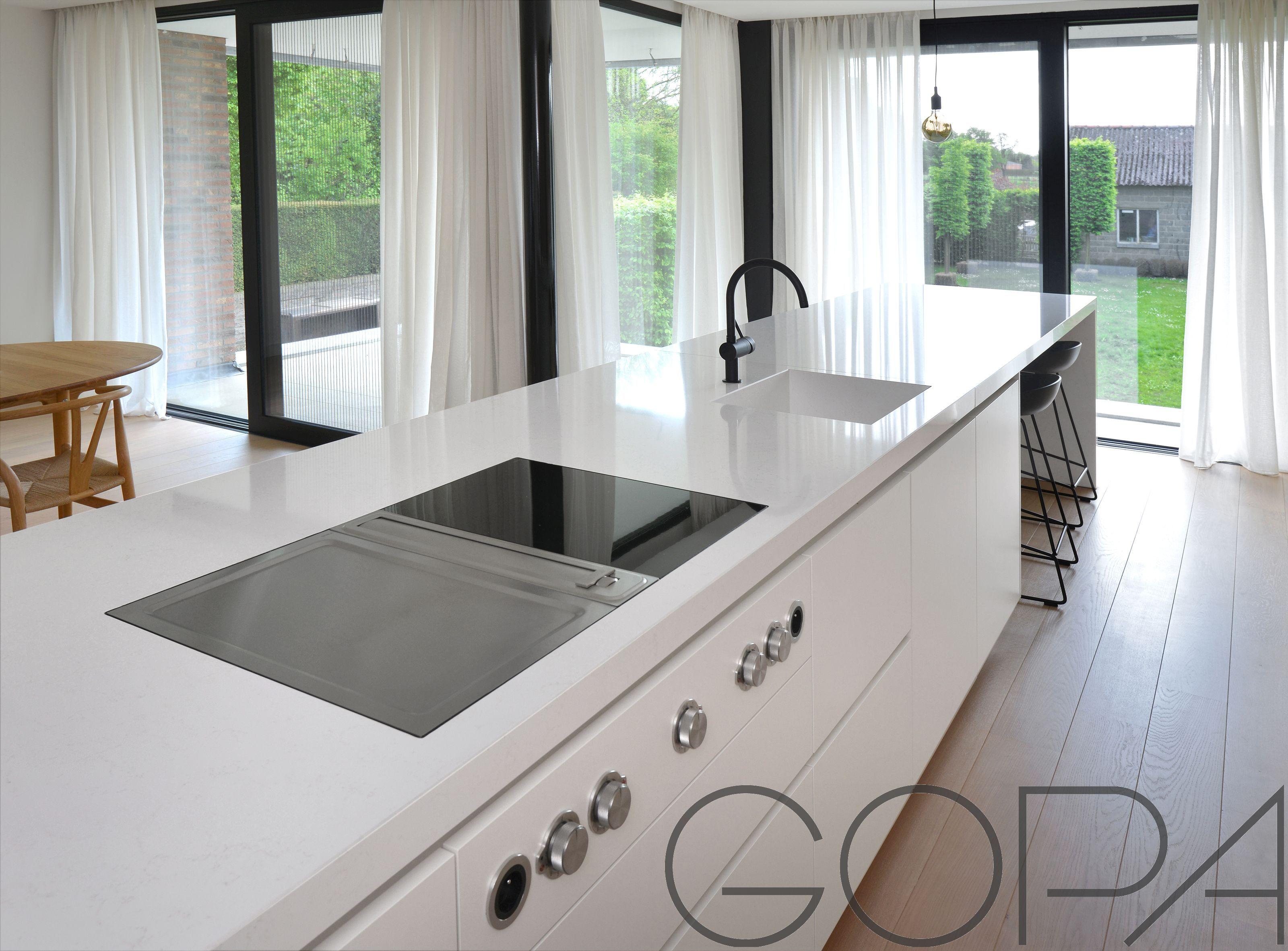 Kookeiland Op Vloerverwarming : Detail kookeiland met bora fornuis strakke keukens in 2018 pinterest