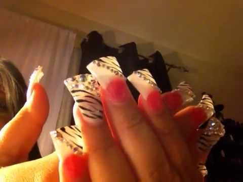 Duck Nail Tips   VIDEO :: My Hello Kitty/Butterfly Duck Tail Acrylic Nails - Duck Nail Tips VIDEO :: My Hello Kitty/Butterfly Duck Tail