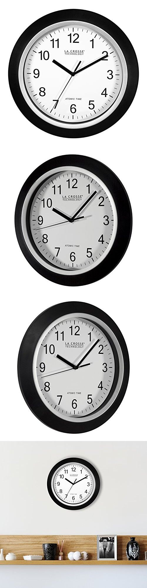La Crosse Technology Wt 3129b 12 Inch Atomic Analog Wall Clock Black Clock Atomic Wall Clock Wall