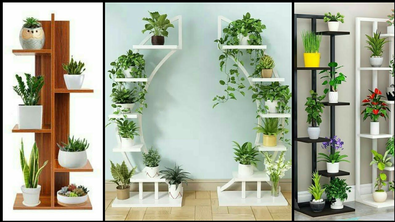 Nice beautiful standing flower shelf... living room and