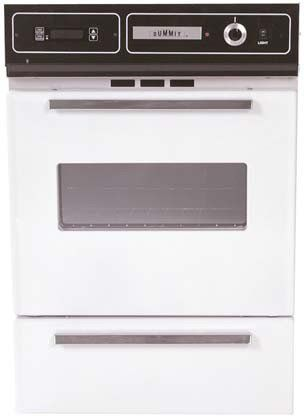 Summit Wtm7212kw 24 White Gas Single Wall Oven This Is An